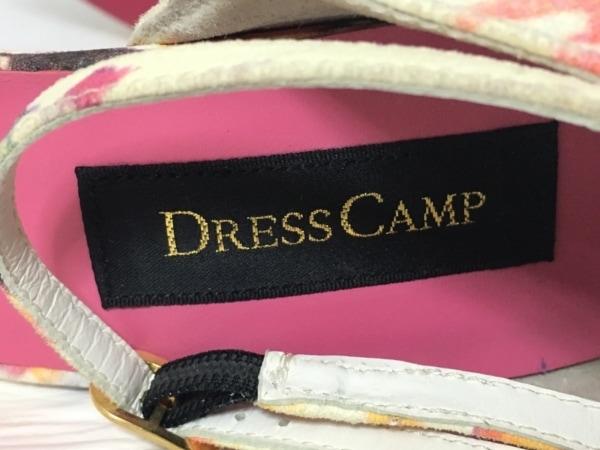 DRESS CAMP(ドレスキャンプ) サンダル 25 レディース アイボリー×ゴールド×マルチ