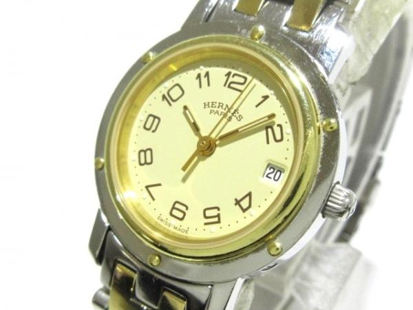 HERMES(エルメス) 腕時計 クリッパー CL4.220 レディース ベージュ