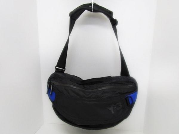 Y-3(ワイスリー) ショルダーバッグ美品  黒×ブルー ナイロン