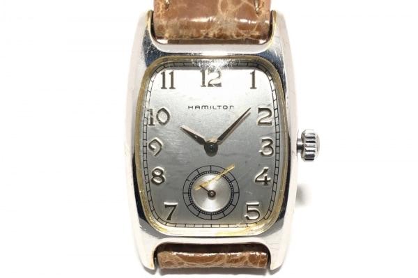 HAMILTON(ハミルトン) 腕時計 6265 レディース 社外革ベルト/型押し加工 シルバー
