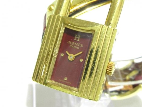 HERMES(エルメス) 腕時計 ケリーウォッチ - レディース 革ベルト/○T ボルドー