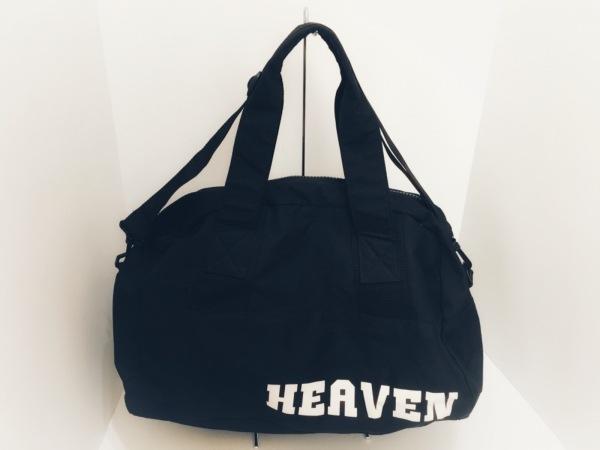 HEAVEN and Earth(ヘブンアンドアース) ハンドバッグ 黒 化学繊維