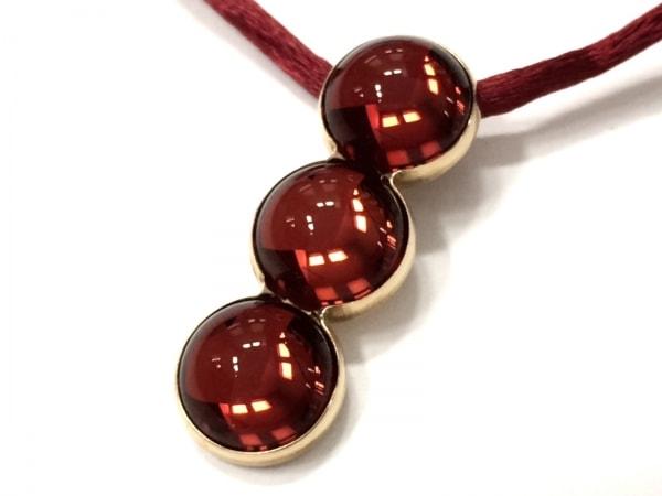 LALIQUE(ラリック) ネックレス ガラス×金属素材×化学繊維 レッド×ゴールド