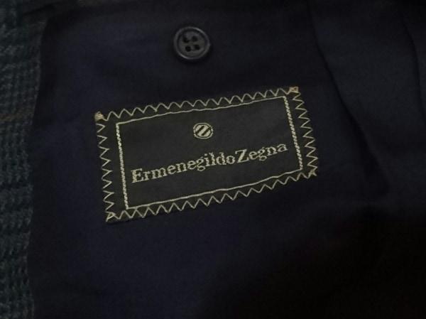 ゼニア ジャケット メンズ美品  ネイビー×カーキ×オレンジ チェック柄