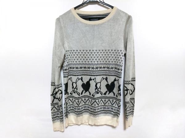 Roen(ロエン) 長袖セーター サイズS レディース美品  ライトグレー×黒