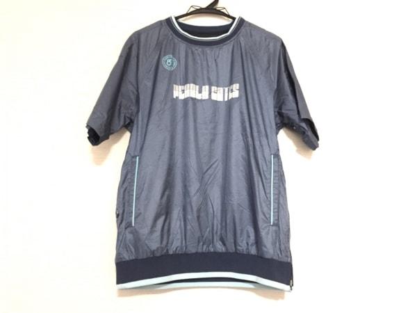 パーリーゲイツ ジャージ サイズ4 XL メンズ ブルー×ライトブルー 半袖/プルオーバー