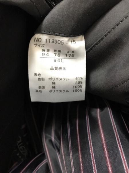ヨシユキコニシ コート サイズ34L メンズ美品  ダークグレー 冬物/ライナー着脱可