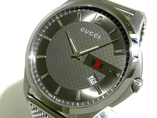 GUCCI(グッチ) 腕時計 Gタイムレス 126.3 メンズ SS ダークグレー