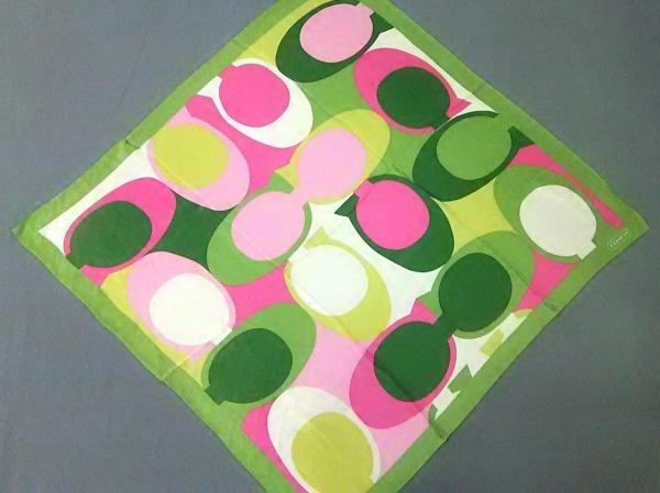 COACH(コーチ) スカーフ ライトグリーン×ピンク
