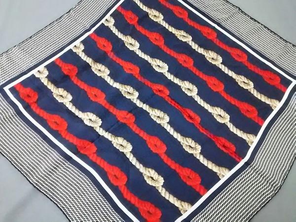TIFFANY&Co.(ティファニー) スカーフ ネイビー×レッド×マルチ
