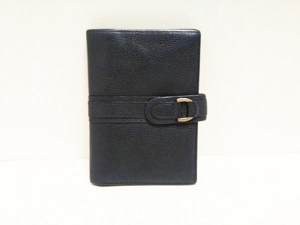 LONGCHAMP(ロンシャン) 2つ折り財布 ダークネイビー レザー
