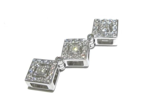 田崎真珠(タサキシンジュ) ペンダントトップ美品  K18WG×ダイヤモンド 0.53カラット
