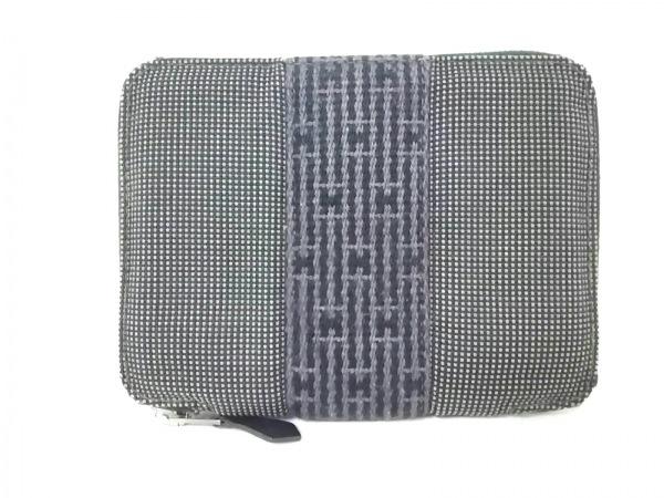 HERMES(エルメス) 2つ折り財布 エールライン パースPM グレー ラウンドファスナー