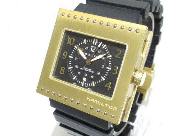 HAMILTON(ハミルトン) 腕時計 コードブレーカー H795350 メンズ 裏スケ 黒