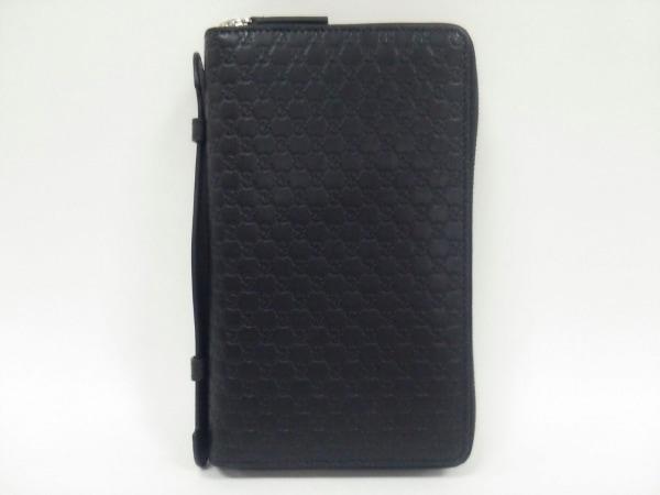 GUCCI(グッチ) 財布美品  マイクロGG/シマライン 449246 黒 レザー