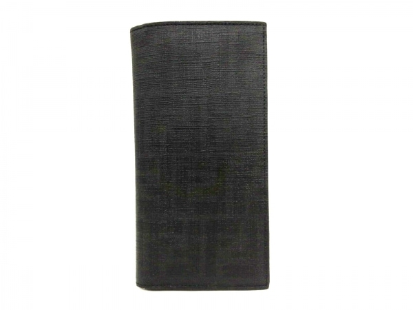 FENDI(フェンディ) 長財布 ズッカ柄 7M0162 ダークグレー×黒 PVC(塩化ビニール)