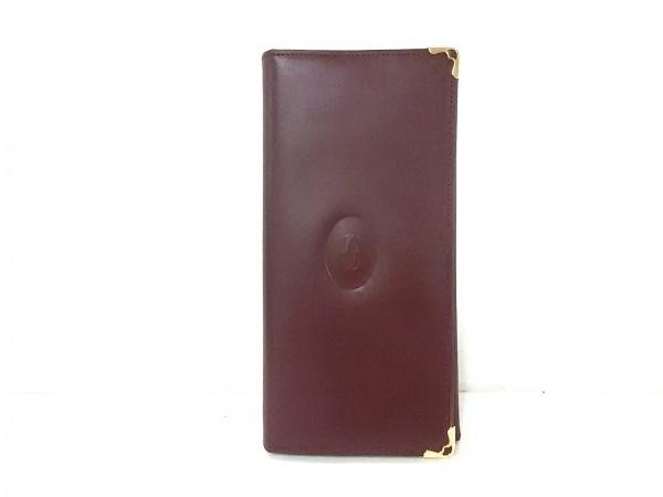 Cartier(カルティエ) 長財布美品  マストライン ボルドー レザー