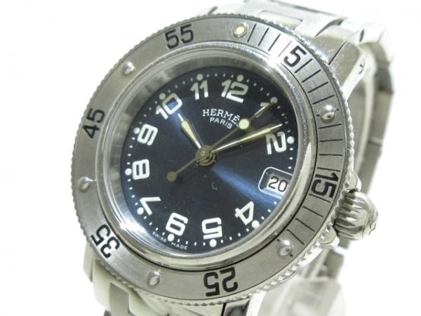 HERMES(エルメス) 腕時計 クリッパーダイバー CL5.210 レディース ネイビー