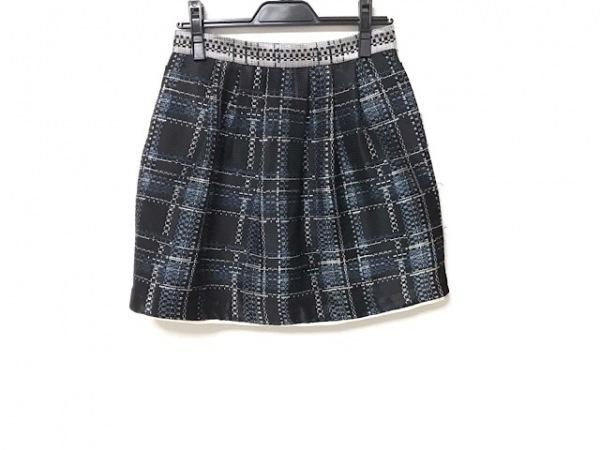 sea NEW YORK(シーニューヨーク) スカート サイズ2 M レディース 黒×ブルー×マルチ