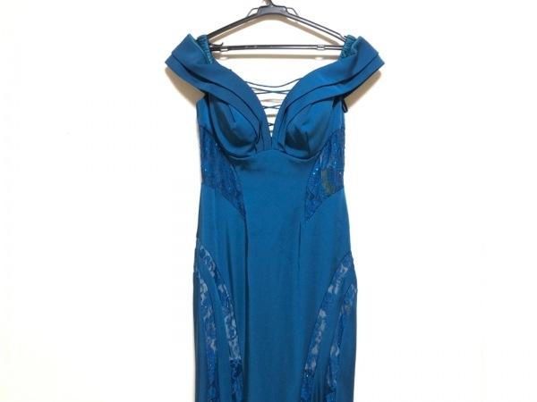 ジーンマクレーン ドレス サイズ9 M レディース ブルー ラインストーン/レース
