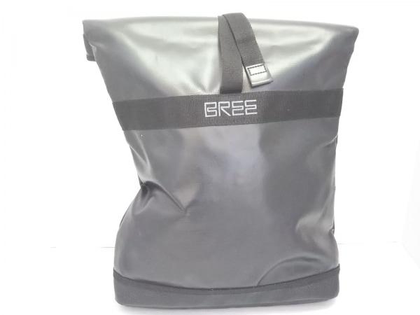 BREE(ブリー) リュックサック美品  黒 PVC(塩化ビニール)×化学繊維