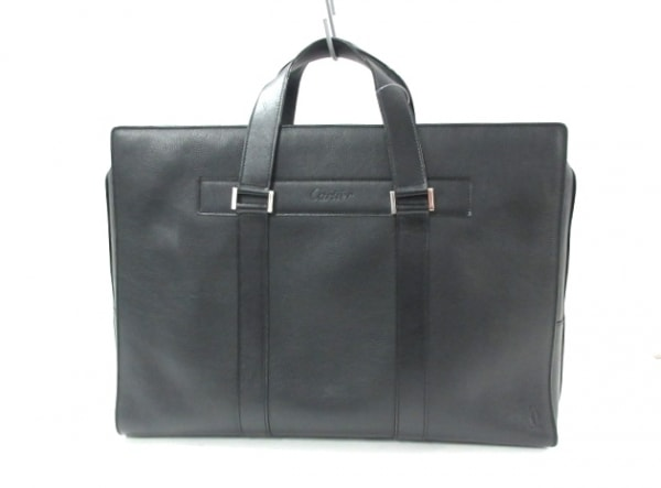 Cartier(カルティエ) ビジネスバッグ - 黒 レザー