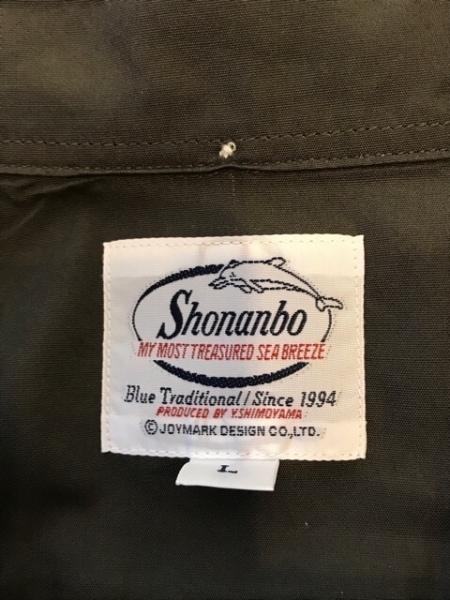 Shonanbo(ショーナンボー) 長袖シャツ サイズL メンズ ダークグレー×マルチ 犬
