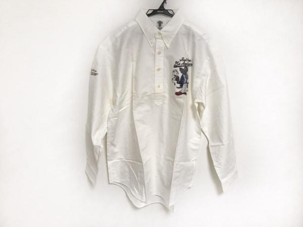 ショーナンデューク 長袖シャツ サイズL メンズ美品  白×マルチ プルオーバー/犬