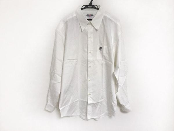 キャプテンサンタ 長袖シャツ サイズXL メンズ美品  アイボリー×白×マルチ ワッペン