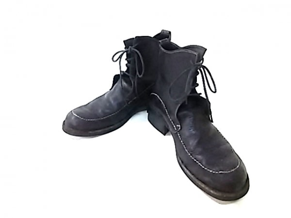 alfredoBANNISTER(アルフレッドバニスター) ショートブーツ 42 メンズ 黒 レザー