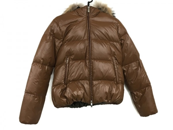 BEAMSBOY(ビームスボーイ) ダウンジャケット レディース美品  ブラウン 冬物/ファー