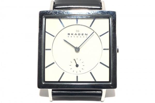 SKAGEN(スカーゲン) 腕時計 475LSLC メンズ 革ベルト 白