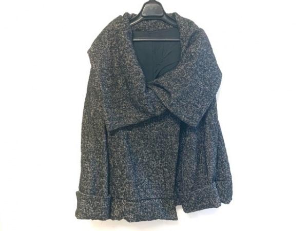 メフウ/センソユニコ ダウンジャケット サイズ38 M レディース美品  黒×白 冬物