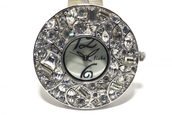 ABISTE(アビステ) 腕時計 - レディース ラインストーン/シェル文字盤 白