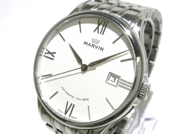 MARVIN(マーヴィン) 腕時計 M117-12 メンズ 裏スケ 白