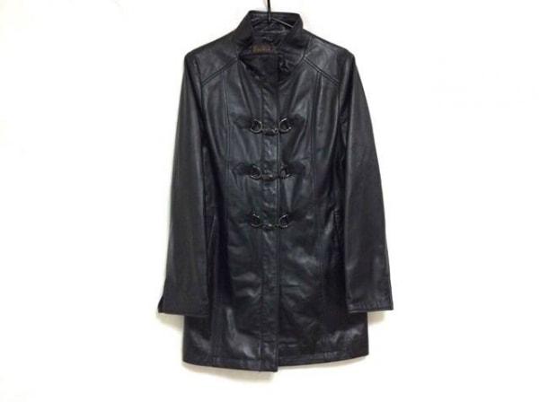 バルマン コート サイズ9 M レディース美品  ダークブラウン ラムレザー/冬物