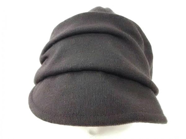 MARY QUANT(マリークワント) 帽子美品  ダークブラウン アクリル×アンゴラ