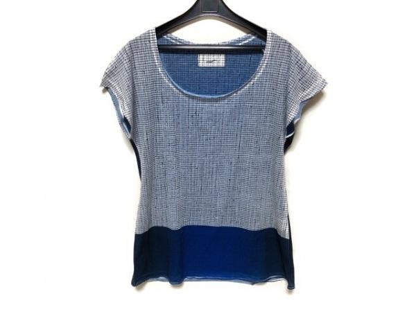 Tramando(トラマンド) 半袖Tシャツ レディース ライトブルー×ネイビー×黒