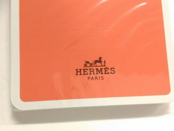 HERMES(エルメス) 小物新品同様  オレンジ×マルチ 天然繊維