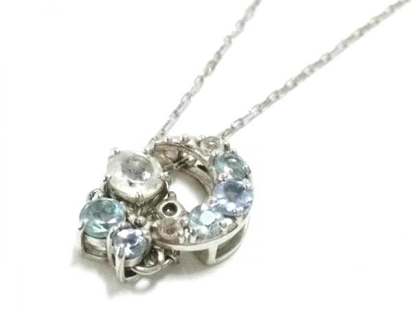 サマンサ ティアラ ネックレス新品同様  K10WG×ダイヤモンド×ラインストーン