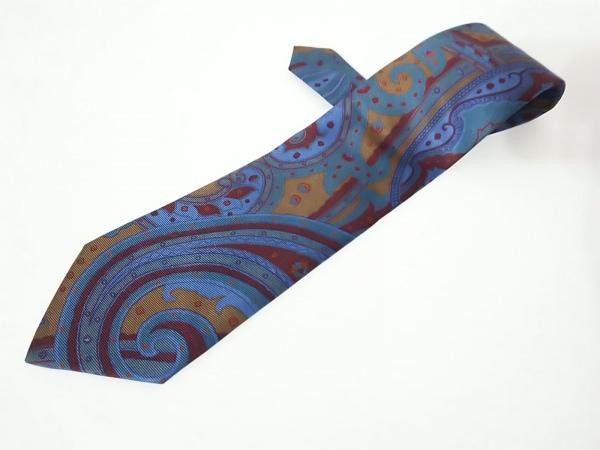 ETRO(エトロ) ネクタイ メンズ美品  ブルー×ボルドー×マルチ ペイズリー柄