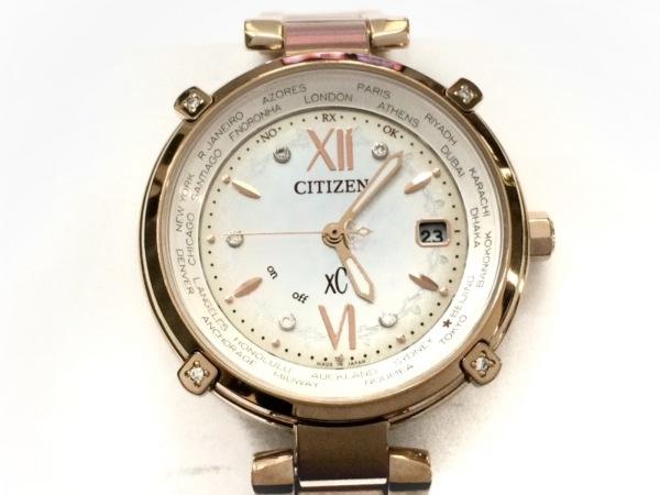 CITIZEN(シチズン) 腕時計美品  クロスシー H240-T020151 レディース シェルホワイト
