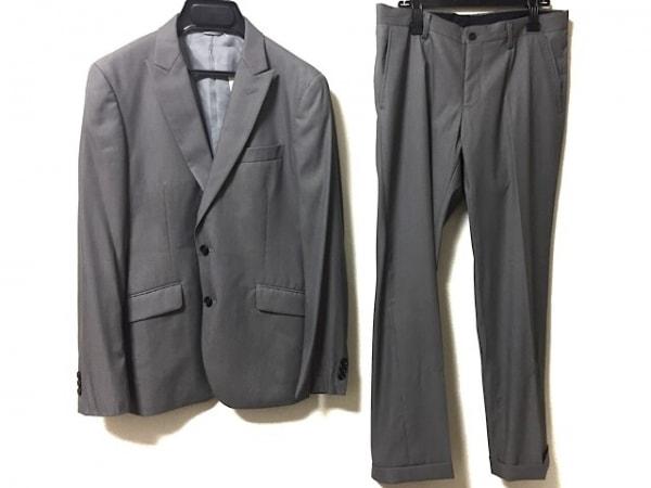 JUN MEN(ジュンメン) シングルスーツ サイズL メンズ グレー 肩パッド