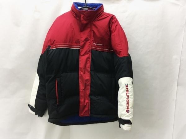 トミーヒルフィガー ダウンジャケット サイズS メンズ  レッド×黒×白 冬物