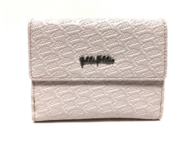 FolliFollie(フォリフォリ) 2つ折り財布 ピンク 型押し加工 合皮