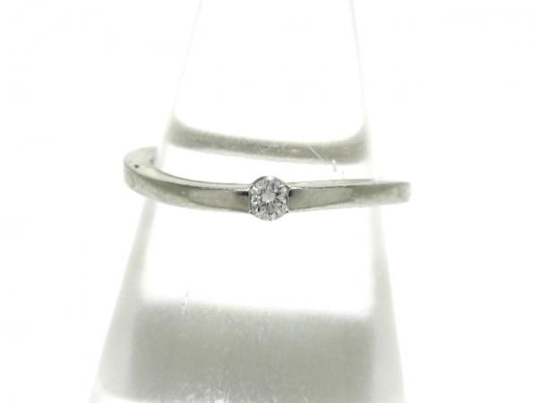 スタージュエリー リング美品  Pt950×ダイヤモンド 0.05カラット/1Pダイヤ