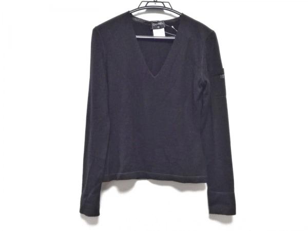CHANEL(シャネル) 長袖セーター サイズ38 M レディース P15856 黒 カシミヤ/Vネック
