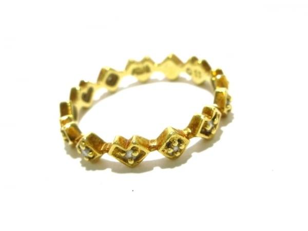 AHKAH(アーカー) リング エタニティ K18YG×ダイヤモンド 0.11カラット/ハート