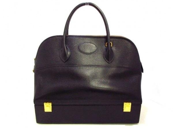 HERMES(エルメス) ハンドバッグ マクファーソン 黒 ゴールド金具 アルデンヌ