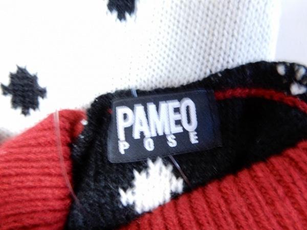 PAMEO POSE(パメオポーズ) スカートセットアップ サイズF レディース 白×黒×レッド